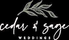 Cedar and Sage Weddings Logo