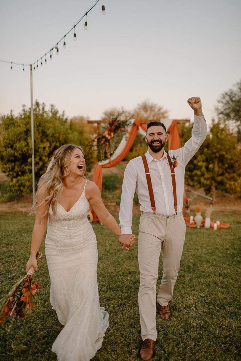 Bride and Groom Boho