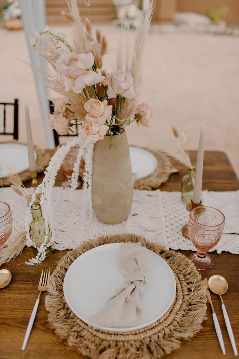 Wedding Boho Place Setting